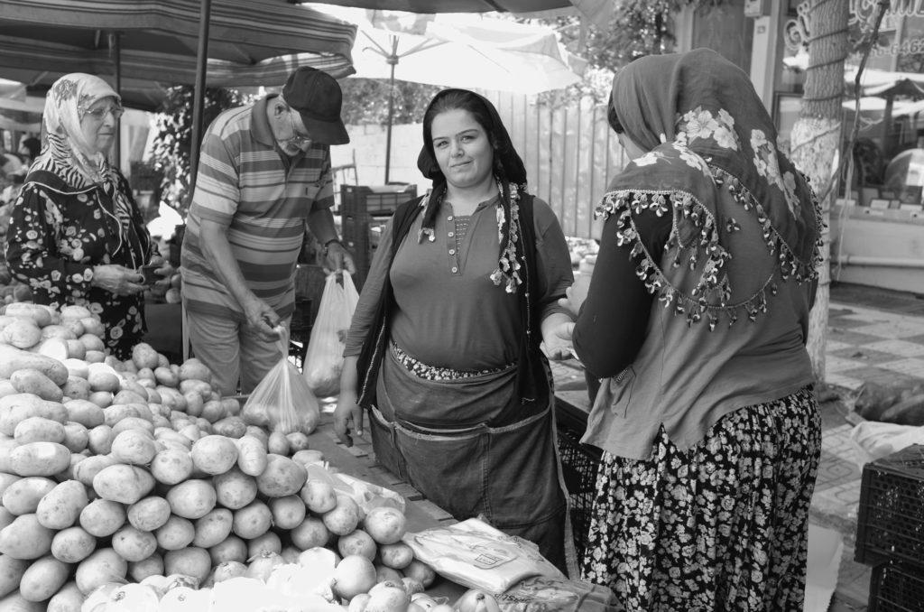 Farmerlady on market Turkey